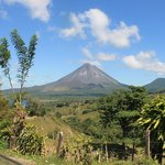Arenal Volcano from the village