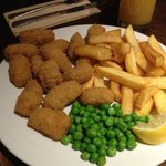 Scampi & Chips  - at The Pear Tree, Cleethorpes