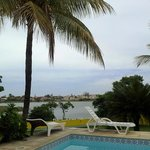 Pool side looking the laguna