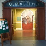 Display of the Queens Hotel, where many survivors were taken