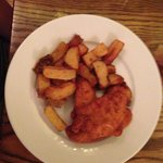 Kids fav meal... chicken and handcut chips