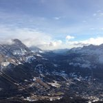 View from gondola back into Cortina