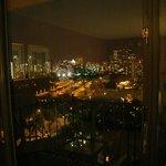 Blick aus dem Zimmer bei Nacht