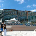 Hard Rock Cancun from the beach