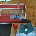Bunks with provided linen (coke not included)