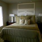 Bedroom area; comfy king bed