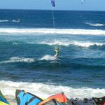 Kite surfing competition at Ho'okipa Beach