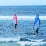 Wind Surfers at Ho'okipa Beach