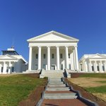 The Virginia Capitol is just across the street