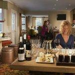 Wine tasting in lounge