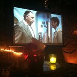 Weekly outdoor movie night in the garden (showing Il Postino this week)