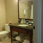 Very large bathroom is easily twice the size it appears here