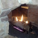Fireplace, a hotly desired seat in cold weather.