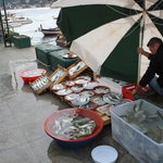 Fresh fish as market opens.