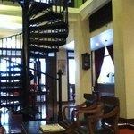 wonderful spiral staircase in the Shanghai Mansion hotel