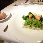Sesame's incredible SeaBass with Pistachio and Almonds