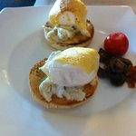 Crab meat eggs benedict @ the Oriental Club