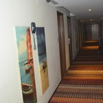 the lobby area, very beautiful painting and carpets