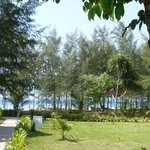 View from our Bungalow - views of garden and sea