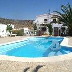 pool sunbathing area