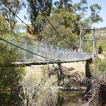 View to the suspension bridge