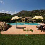Swimming pool and Sun umbrellas