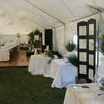 Entering the Wedding Reception Tent