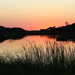 Wonderful sunsets at the small lake at the entrance of Monte Velho