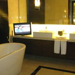 Master bath with waterproof LCD TV