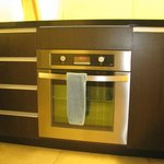 conventional oven in the kitchen