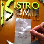 ~ the bill at the bistro ~