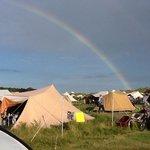 uitzicht over camping