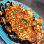 Pescatore: Real lump crabmeat, jumbo shrimp, mussles, and clams
