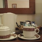 Tea and coffee in my room, well stocked
