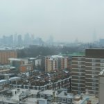 View from a room facing Euston Rd on the 16th floor - fantastic!
