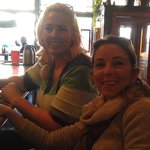 Karen and Chariry at the bar