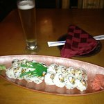 Spicy Conch and Spicy Octopus with a Sapporo Beer