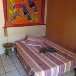 Einzelzimmer: Blick auf das Bett