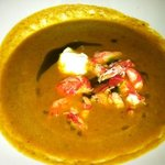 pumpkin soup with lobster