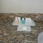 Amenities in bathroom