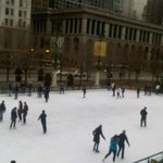 Skating on Ice in Millennium Park