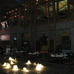 Hatam restaurant in Burjuman Mall with fountains