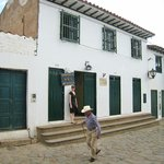 Hotel Sol from the street.  Like most of Villa de Leyva it opens to an amazing