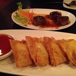 lobster Rangoon & asparagus beef rolls