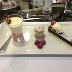 Trio of desserts. Yum!