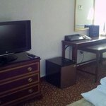 Desk and tv in Room