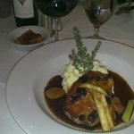 pork chop with demi glace & mashers
