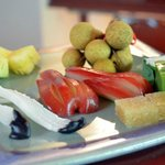 Welcome fruit plate...yum!!