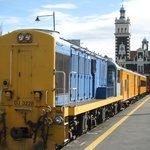 The Train at Dunedin Railway Station