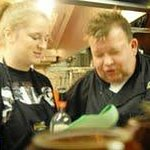 Chef Scott and Culinaray Student Leslie Baxter Jan 2013